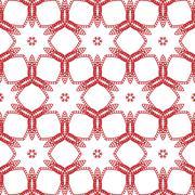 Primitive simple red modern pattern - stock illustration
