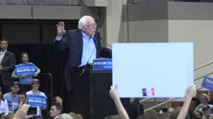 Bernie Sanders And Campaign Finance Reform with audio - stock footage