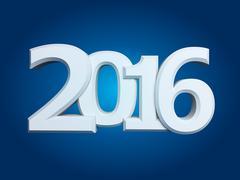 Figures 2016 on an blue background Stock Illustration