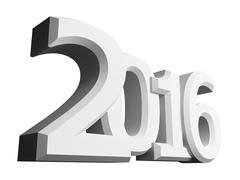 Figures 2016 on an white background - stock illustration