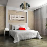 Bedroom in contemporary style Stock Illustration