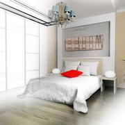 Bedroom in contemporary style - stock illustration