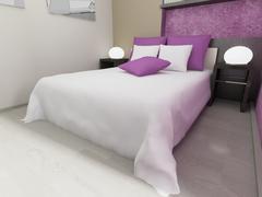 Modern interior bedroom Stock Illustration