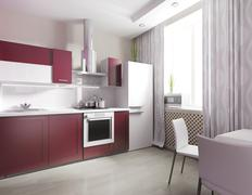 modern domestic Kitchen - stock illustration