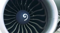Detail of airplane engine - propeller Stock Footage