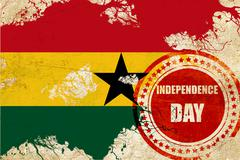 Stock Illustration of Ghana flag