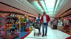 Stock Video Footage of Customers in the store Duty Free at Dubai International Airport.