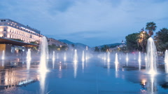 The Miroir d'eau in Nice - Time Lapse Stock Footage