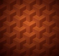 Dark Parquet 3d Seamless Floor Pattern Stock Illustration