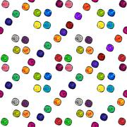 Colored dots beautiful abstract seamless pattern Stock Illustration