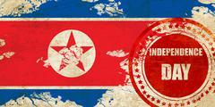 North Korea flag - stock illustration
