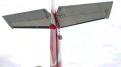 Rear wing aircraft - sky Stock Footage