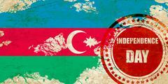 Azerbaijan flag Stock Illustration
