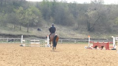 Horse riding. Stock Footage