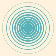 Circles vintage vector retro background - stock illustration
