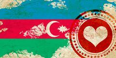 Stock Illustration of Azerbaijan flag