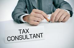 Tax consultant at the office Stock Photos