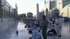 Mazar-e Sharif, prayer at shrine of Hazrat Ali, Afghanistan (2).mp4 Stock Footage