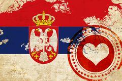 Stock Illustration of Serbia flag