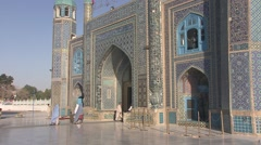 Mazar-e Sharif, shrine of Hazrat Ali, Afghanistan (2).mp4 Stock Footage