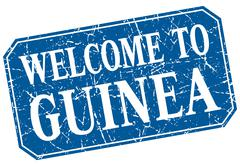 Stock Illustration of welcome to Guinea blue square grunge stamp