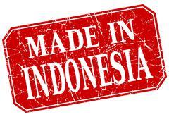 Stock Illustration of made in Indonesia red square grunge stamp
