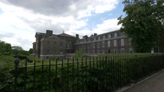 Side view of Kensington Palace in London Stock Footage