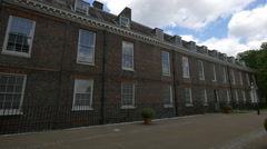 Kensington Palace with windows in London Stock Footage