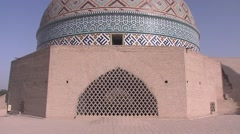 Yazd Jame mosque dome, Iran.mp4 Stock Footage