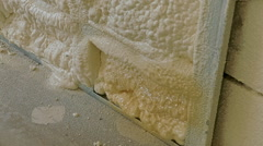Insulation of a building with the help of polypropylene Stock Footage
