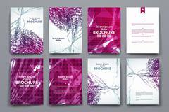 Stock Illustration of Set of brochure, poster design templates in abstract background style