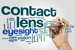 Contact lens word cloud - stock photo