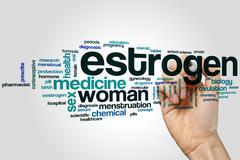 Estrogen word cloud - stock photo