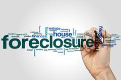 Foreclosure word cloud Kuvituskuvat