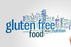 Gluten free word cloud - stock photo