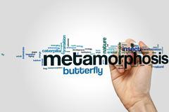 Metamorphosis word cloud - stock photo