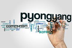 Pyongyang word cloud Stock Photos