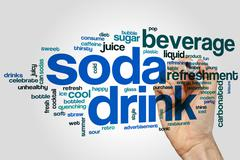 Soda drink word cloud Stock Photos