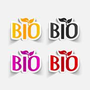 realistic design element: bio sign - stock illustration