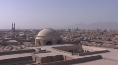 Yazd total view from Jame mosque, Iran.mp4 Stock Footage