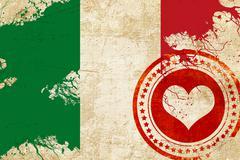 Italy flag - stock illustration