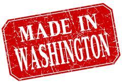 Made in Washington red square grunge stamp Stock Illustration