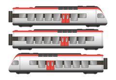 Passenger train wagons Stock Illustration