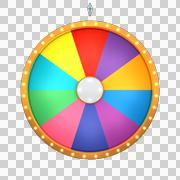 lucky spin 10 area color - stock illustration