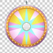 star lucky spin 12 area pink - stock illustration
