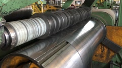 Coils cutting machine Stock Footage