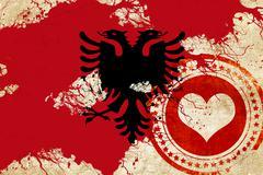 Albania flag - stock illustration