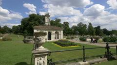 Beautiful building in the Italian Gardens in London Stock Footage