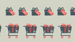 shopping carts inside,sale, - stock footage