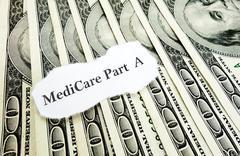 Medicare Part A money Stock Photos